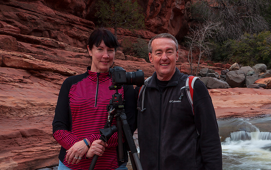 Roger and Caryn in Oak Creek Canyon